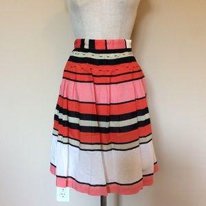 Anthropologie We Love Vera Licorice Lanes skirt